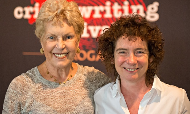 Ruth Rendell left and Jea 007