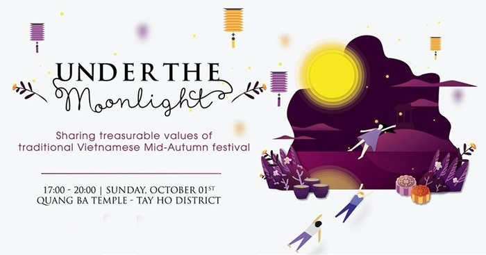 Traditional Mid Autumn festival Under The Moonlight