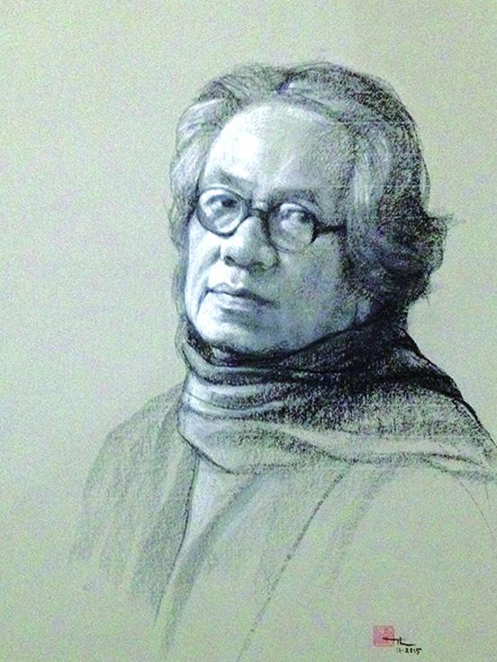 Dịch giả, hoạ sĩ Trịnh Lữ (chân dung tự hoạ)