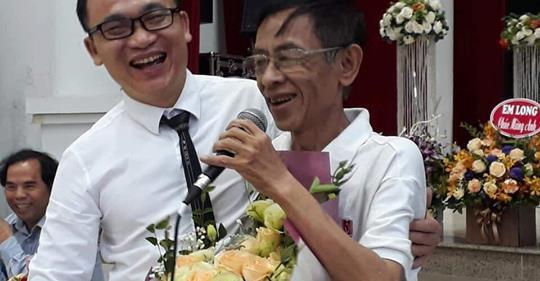 Ngọc Lê Ninh và nhà thơ Hoàng Nhuận Cầm